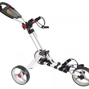Chariot-de-golf-Bullet-pliage-facile-3-roues-blanc-0