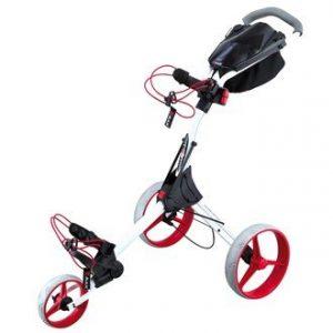 Big-Max-Chariot-de-golf-manuel-IQ-Blanc-Roues-rouges-0