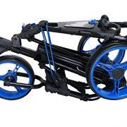 QWIK-FOLD-Chariot–3-Roues-Chariot-De-Golf–Pousser–Tirer-Frein-Au-Pied-Une-Seconde-Pour-LOuvrir-Et-Le-Fermer-NoirBleu-0-0