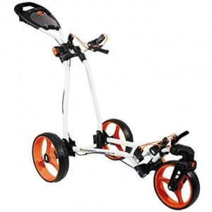 2014-Masters-Golf-iCart-Classic-Plus-3-Wheel-Golf-Trolley-Cart-WhiteOrange-0