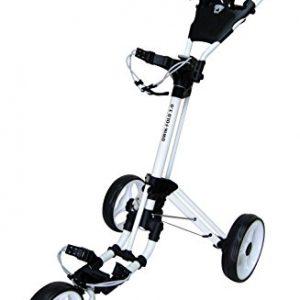 QWIK-FOLD-Chariot--3-Roues-Chariot-De-Golf--Pousser--Tirer-Frein-Au-Pied-Une-Seconde-Pour-LOuvrir-Et-Le-Fermer-BlancBlanc-0