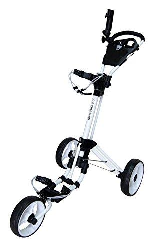 QWIK-FOLD-Chariot–3-Roues-Chariot-De-Golf–Pousser–Tirer-Frein-Au-Pied-Une-Seconde-Pour-LOuvrir-Et-Le-Fermer-BlancBlanc-0
