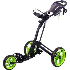 2016-Clicgear-Rovic-RV2L-3-Wheel-PullPush-Golf-TrolleyCart-CharcoalLime-0