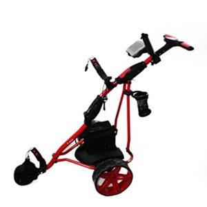 Kenrod-Chariot-de-golf-lectriqueGolf-Trolley-pliant-avec-cran-digital-automatique-Couleur-Rouge-0