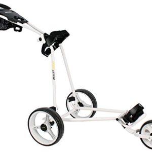 Chariot-de-golf-Bullet-5000-Professional-pliable-avec-avec-systme-de-Clic-facile-Blanc-0