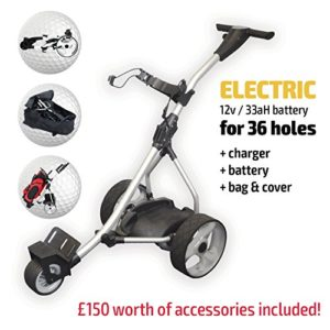 Chariot-de-golf-lectrique-Rider-Silver-Electric-Golf-Trolley-Silver-0