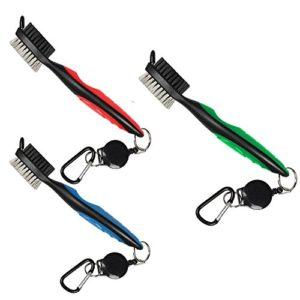 Yupro-et-brosse-de-golf-Club-Groove-Cleaner-06-m-rtractable-VIRB-Elite-Mousqueton-en-aluminium-lger-et-lgant-design-ergonomique-SE-fixe-facilement-sur-la-Sac-de-golf-redbluegreen-0
