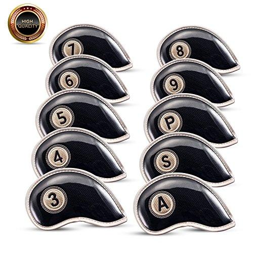 Housse-de-tte-Fer-Tte-de-Club-de-Golf-Couvre-Durable-Matriau-rsistant–leau-avec-Velcro-de-design-pour-Titleist-Callaway-Ping-TaylorMade-Nike-Yamaha-Cleveland-Wilson-Reflex-Lot-de-10-0