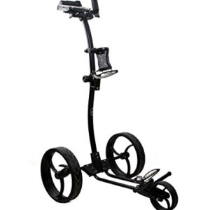 Zerimar-KENROD-Chariot-de-Golf-Manuel-Pliable-Chariot-de-Golf-3-Roues-Couleurs-Noir-et-Blanc-0