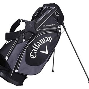 Callaway-2017-X-Series-Stand-Bag-Mens-Golf-Carry-Bag-6-Way-Top-BlackCharcoalWhite-0