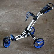 Golftrolley-Yorrx-SL-Pro-7-HAMMA-PLUS-en-bleu-Alu-Pushtrolley-Golfwagen-Pushtrolley-Golfcart-0-0
