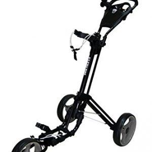 QWIK-FOLD-Chariot--3-Roues-Chariot-De-Golf--Pousser--Tirer-Frein-Au-Pied-Une-Seconde-Pour-LOuvrir-Et-Le-Fermer-NoirCharbon-0