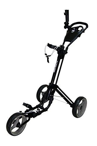 QWIK-FOLD-Chariot–3-Roues-Chariot-De-Golf–Pousser–Tirer-Frein-Au-Pied-Une-Seconde-Pour-LOuvrir-Et-Le-Fermer-NoirCharbon-0