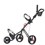 Caddytek-chariot-de-golf-pousse-3-roues-Superlite-Deluxe-avec-Practise-Balles-de-golf-et-tees-de-100-pcs-KitsNoir-0