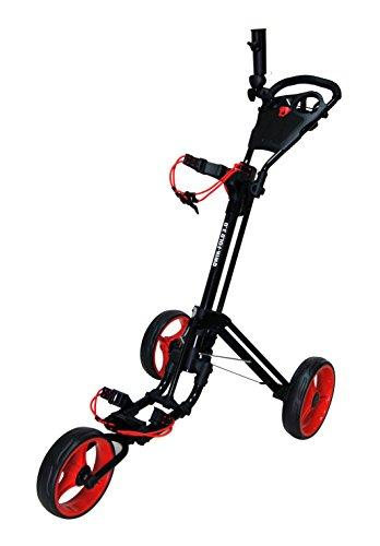 QWIK-FOLD-Chariot–3-Roues-Chariot-De-Golf–Pousser–Tirer-Frein-Au-Pied-Une-Seconde-Pour-LOuvrir-Et-Le-Fermer-NoirRouge-0