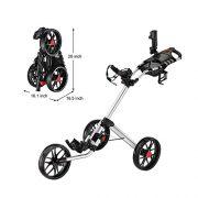 Caddytek-Quad-pliage-chariot-de-golf-3-roues-Super-Deluxe-et-avec-le-sac-dentreposage-SILVER-0-0