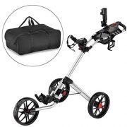 Caddytek-Quad-pliage-chariot-de-golf-3-roues-Super-Deluxe-et-avec-le-sac-dentreposage-SILVER-0