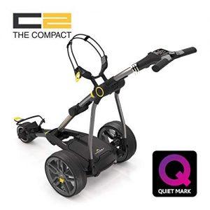 Chariot-de-golf-lectrique-Powakaddy-C2-compact-avec-batterie-au-lithium-1827-Couleur-Gris-mtallis-fonc-0