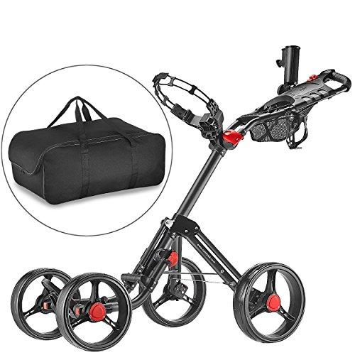 Caddytek-Superlite-Explorer-4-roues-chariot-de-golf-gris-fonc-avec-sac-de-rangement-0