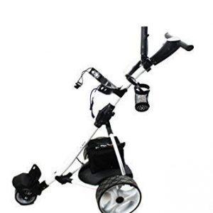 Kenrod-Chariot-de-Golf-lectrique-pliable-avec-cran-digital-automtico-blanc-0