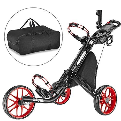 Caddytek-facile-pliage-chariot-de-golf-3-roues-et-avec-le-sac-dentreposage-RED-0