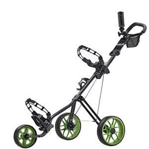 Caddytek-chariot-de-golf-pousse-3-roues-Superlite-Deluxe-avec-Practise-Balles-de-golf-et-tees-de-100-pcs-Kitsgreen-0