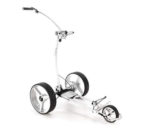 Chariot-de-Golf-lectrique-BeeGon-Chariot-GT-X400-Pro-USB-Silver-Edition-0