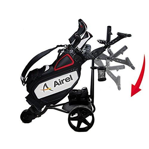 AIREL-Chariot-de-Golf-lectrique-Pliable-avec-cran-Digital-automticoNoir-0-0