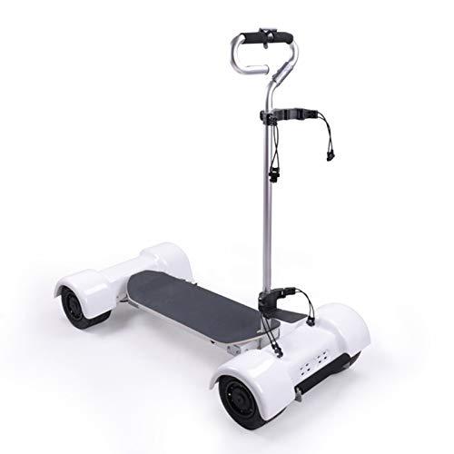 GYN-Chariot-De-Golf-LectriqueVoiturettes-Golf-4-RouesChariot-De-Golf-Lectrique-Pliable-avec-Cran-Digital-AutomTico-DeluxeChariot-Golf-Blanc-Adulte-Unisexe-0